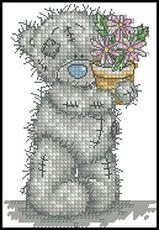 Мишка с цветком-Anchor