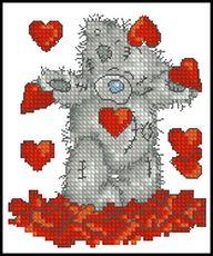 Мишка в сердечках-Anchor