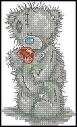 Мишки Тедди-Тедди с розой-Anchor