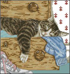 Спящий кот-DMC