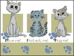 Животные - коты-DMC