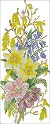 Весенние цветы-DMC