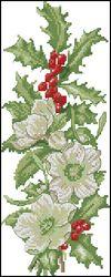 Зимние цветы-DMC