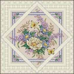 Салфетка-Цветы и бабочки-Dimensions