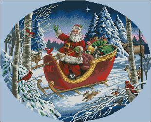 Санта на санях-Dimensions