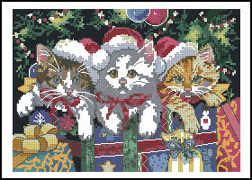 Котята с подарками-Dimensions