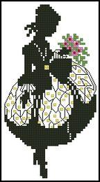 Девушка с цветами-Eva Rosenstand