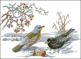 Зимние птицы-Eva Rosenstand