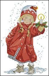 Девочка с рождественской свечкой-Eva Rosenstand