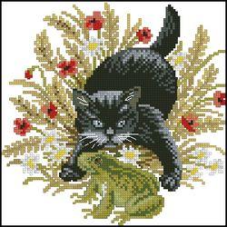 Кот и лягушка-Eva Rosenstand