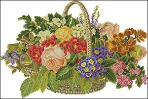 Цветы в корзинке-Eva Rosenstand