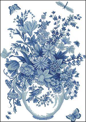 Голубые цветы-Eva Rosenstand