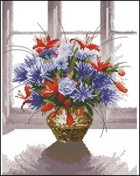 Цветы в медной вазе-Heritage
