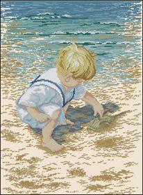 Маленький мальчик и краб-Janlynn