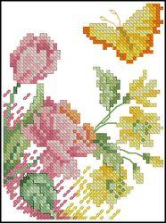 Бабочка в цветах-Janlynn