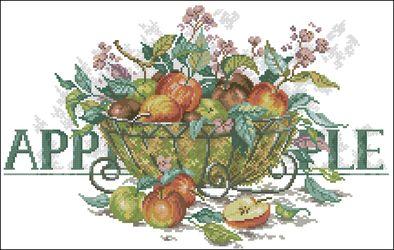 Яблоки в корзине-Lanarte