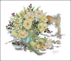 Букет цветов и ягоды-Lanarte