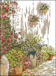 Цветник у дома-Lanarte