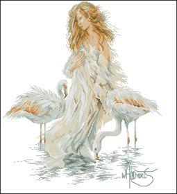 Lanarte-Девушка и фламинго