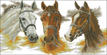 Скачать бесплатно вышивка крестом схемы лошади