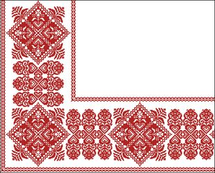 Фрагмент орнамента для скатерти 3