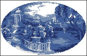 Риолис-Пейзаж в голубых тонах