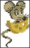 Мышка - детская вышивка-Риолис