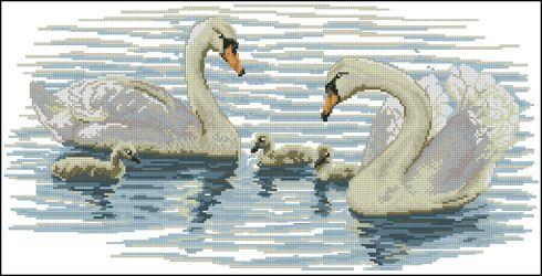 Лебеди на пруду-Vervaco