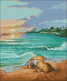 Сон на пляже-Вышитые картины