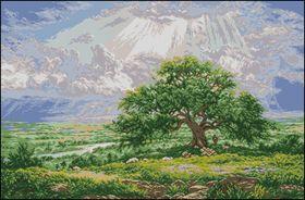 Старый дуб-Вышитые картины