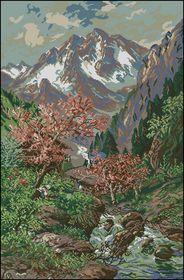 У подножья гор-Вышитые картины
