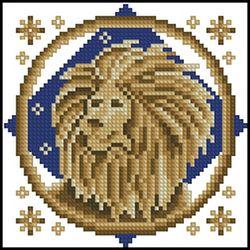 Схема вышивки знаков зодиака лев 23