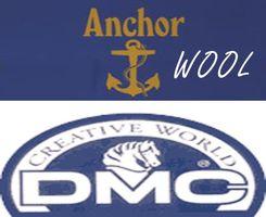 Таблица перевода для мулине Anchor-шерсть-DMC-шерсть